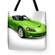 Green 2008 Dodge Viper Srt10 Roadster Tote Bag