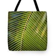 Green Palm Leaf Tote Bag