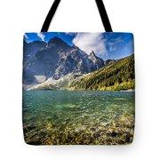 Green Water Mountain Lake Morskie Oko, Tatra Mountains, Poland Tote Bag