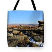 Gritstone Rocks On Hathersage Moor, Derbyshire County Tote Bag