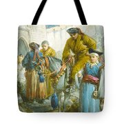 Group Near The Great Wall Of China Tote Bag