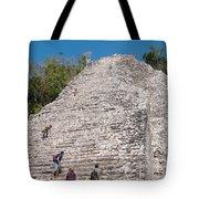 Grupo Nohoch Mul At The Coba Ruins  Tote Bag