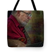 Guitar Picker In The Park On Sunday Tote Bag