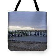 Gulf Beach Pier Tote Bag