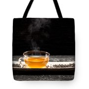 Gunpowder Green Tea In Glass Teapot Tote Bag