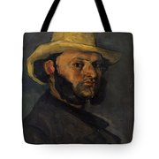 Gustave Boyer B 1840 In A Straw Hat Tote Bag