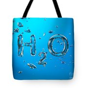 H2o Formula Made By Oxygen Bubbles In Water Tote Bag