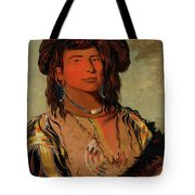 Ha-won-je-tah, One Horn, Head Chief Of The Miniconjou Tribe Tote Bag