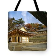Haeinsa Buddhist Temple Tote Bag