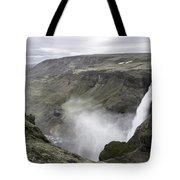 Haifoss Waterfall Iceland 1340 Tote Bag