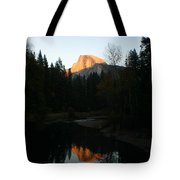 Half Dome Sunset Tote Bag