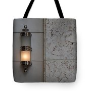 Half Lit Wall Sconce Tote Bag