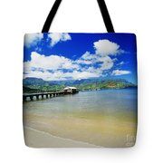 Hanalei Bay With Pier Tote Bag