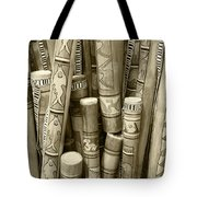 Hand Painted Rain Sticks Tote Bag