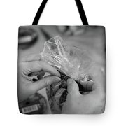 Hands At Work.  Tote Bag