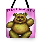 Happy Birthday Bear Tote Bag