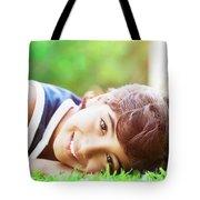 Happy Boy Outdoors Tote Bag