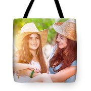 Happy Mother And Daughter Tote Bag