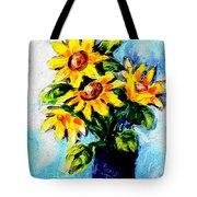 Happy Sunflowers  Tote Bag
