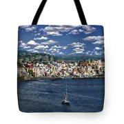 Harbor In Corricella Tote Bag