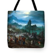 Harbour Scene With Christ Preaching Tote Bag