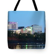 Hartford Skyline Panorama Tote Bag