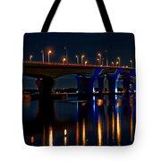 Hathaway Bridge At Night Tote Bag