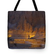 Hatshepsuts Mortuary Temple Rises Tote Bag