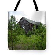 Haunted House Tote Bag by Quwatha Valentine
