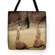 Having A Giraffe Tote Bag