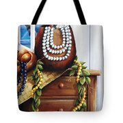 Hawaiian Still Life Panel Tote Bag