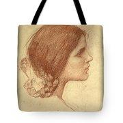 Head Of A Girl Tote Bag