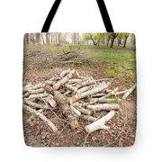 Heap Of Cut Wood Tote Bag