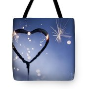 Heart Shape Sparkler Tote Bag