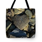 Heart Shaped Stone Loch Fyne  Tote Bag