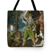Henry Frederick Prince Of Wales With Sir John Harington In The Hunting Field Tote Bag