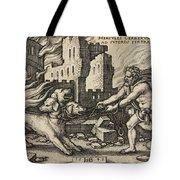 Hercules Capturing Cerberus Tote Bag