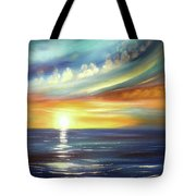 Here It Goes - Square Sunset Painting Tote Bag