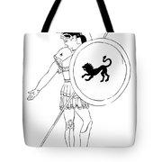 hero - warrior of ancient Greece Tote Bag