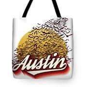 Congress Avenue Bridge Bats Take Flight In Austin Texas Tote Bag