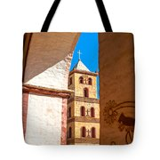 Historic Stone Bell Tower Tote Bag