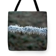 Hoar Frost At Sun Up Tote Bag