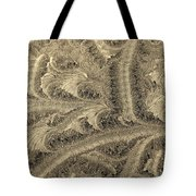 Extraordinary Hoarfrost Scallop Patterns In Sepia Tote Bag