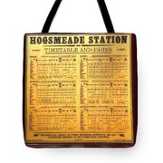 Hogsmeade Station Timetable Tote Bag