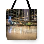Holiday Scenes In Uptown Charlotte North Carolina Tote Bag