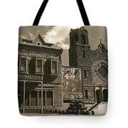 Holy Angel's Catholic Church Rectory  Belles Indian Saloon   The Great White Hope Set Globe Az 1969 Tote Bag