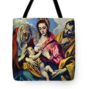 Holy Family With St Anne Tote Bag