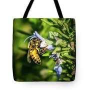 Honey Bee On Bush Tote Bag