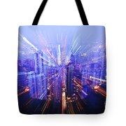 Hong Kong Lights Tote Bag by Ray Laskowitz - Printscapes