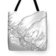Honolulu Hawaii Usa Light Map Tote Bag